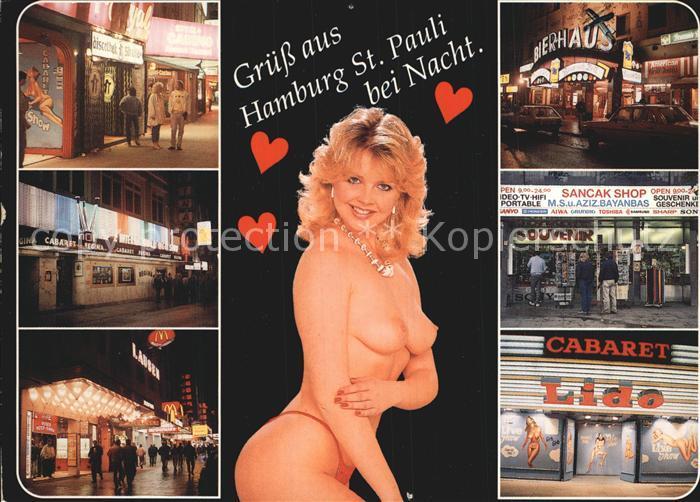 Hamburg St. Pauli bei Nacht Kat. Hamburg