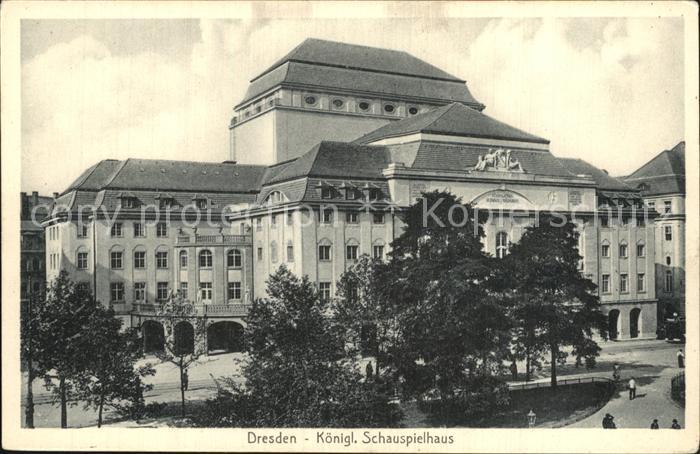 Dresden Koenigliches Schauspielhaus Kat. Dresden Elbe