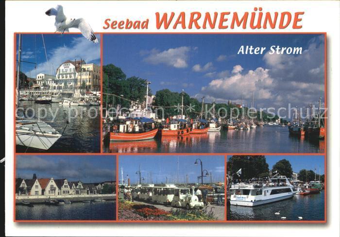 Warnemuende Ostseebad Alter Strom  Hafen Schiffe  Kat. Rostock