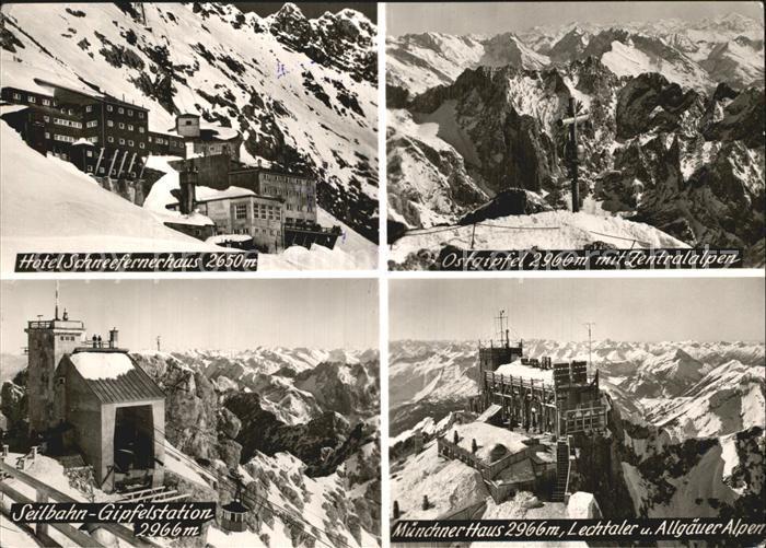Zugspitze Hotel Schneefernerhaus Muenchner Haus Seilbahn Gipfelstation Kat. Garmisch Partenkirchen