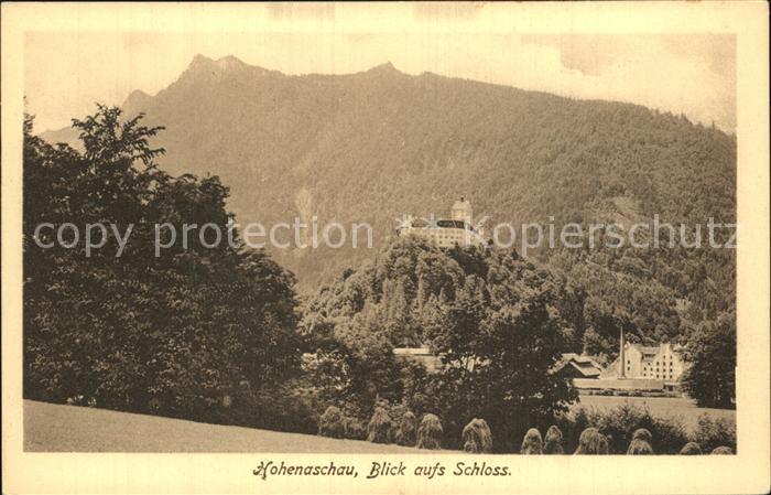 Hohenaschau Chiemgau Blick zum Schloss Kat. Aschau i.Chiemgau