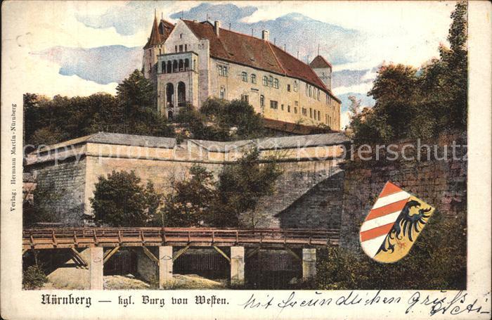 Nuernberg Koenigliche Burg von Welfen Kat. Nuernberg
