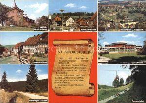 St Andreasberg Harz Schuetzenstrasse Kurhaus Breite Strasse Glockenberg Kat. Sankt Andreasberg