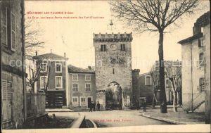 Beaumont les Valence Tour ancienne Porte des fortifications Kat. Beaumont les Valence