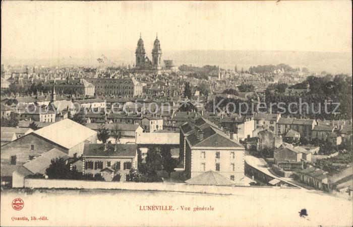 Luneville Vue generale de la ville avec Cathedrale Kat. Luneville
