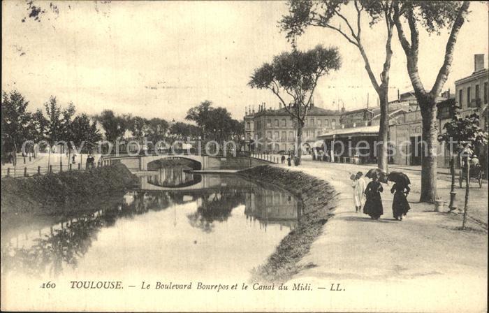 Toulouse Haute Garonne Boulevard Bonrepos Canal du Midi Kat. Toulouse