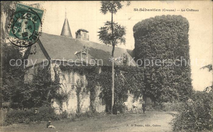 Saint Sebastien Creuse Chateau Schloss Kat. Saint Sebastien