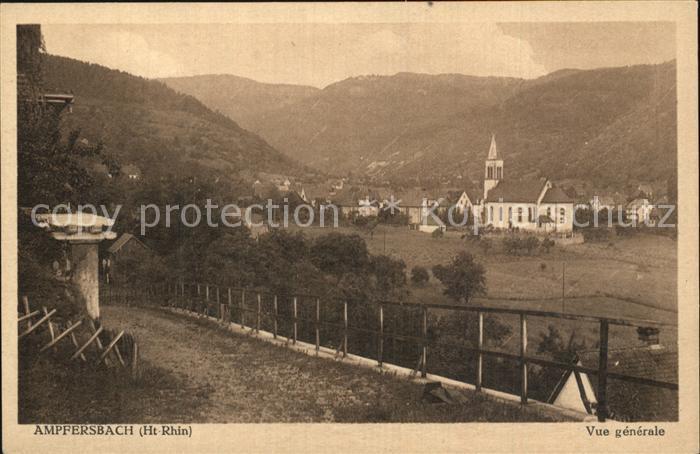 Ampfersbach Haut Rhin Vue generale Eglise et les Vosges Kat. Stosswihr