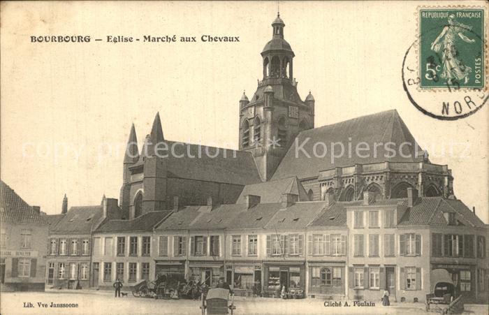 Bourbourg Eglise Marche aux Chevaux Kat. Bourbourg