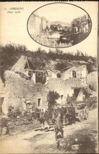 Apremont St Mihiel Ruines Grande Guerre Truemmer 1. Weltkrieg Kat. Saint Mihiel