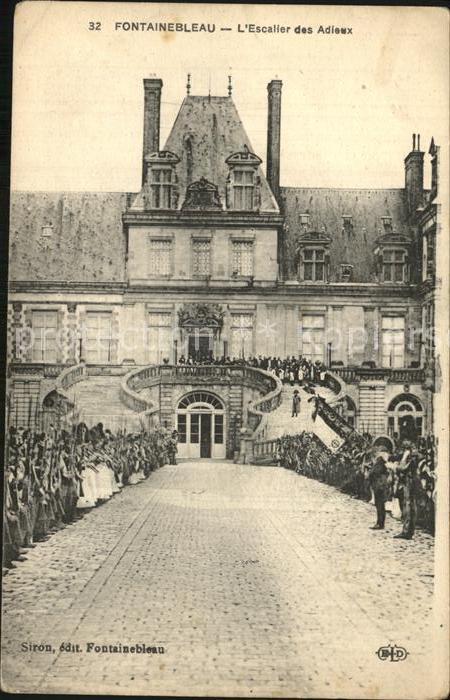 Fontainebleau Seine et Marne Escalier des Adieux Kat. Fontainebleau
