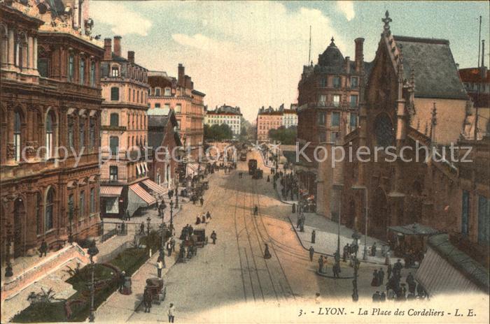 Lyon France Place des Cordeliers Kat. Lyon