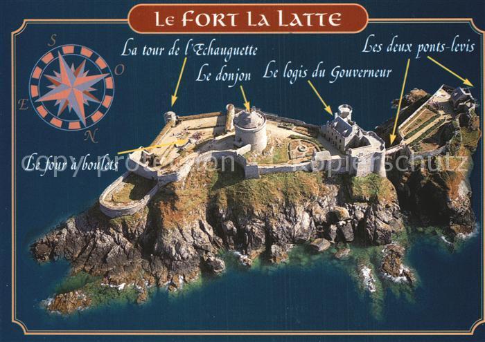 Plevenon Fort la Latte Fliegeraufnahme Kat. Plevenon