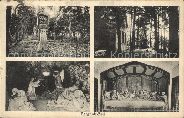 Bergholz Zell Grabsteine Kapelle Heiligenfiguren Kat. Bergholtzzell