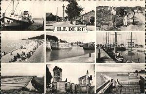 Ile de Re Bac La Flotte Plage Phare Port Eglise Ars en Re Kat. Saint Martin de Re