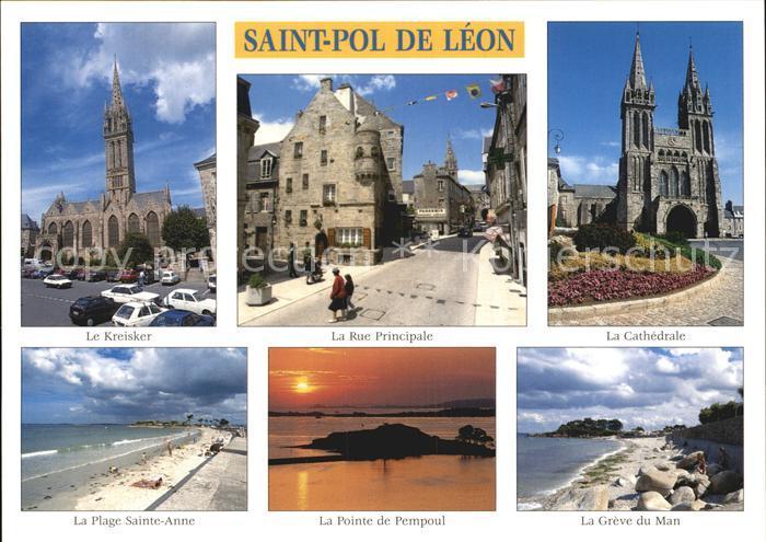 Saint Pol de Leon Rue Prinicpale Kreisker Plage  Kat. Saint Pol de Leon