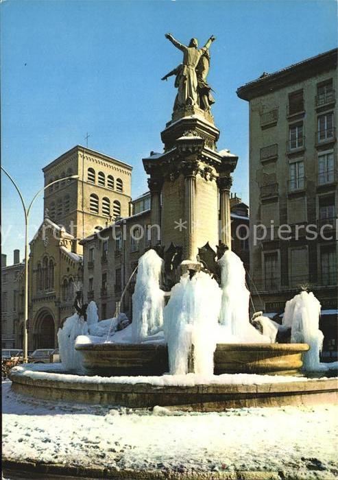 Grenoble Place Notre Dame Monument des Trois Ordres Kat. Grenoble