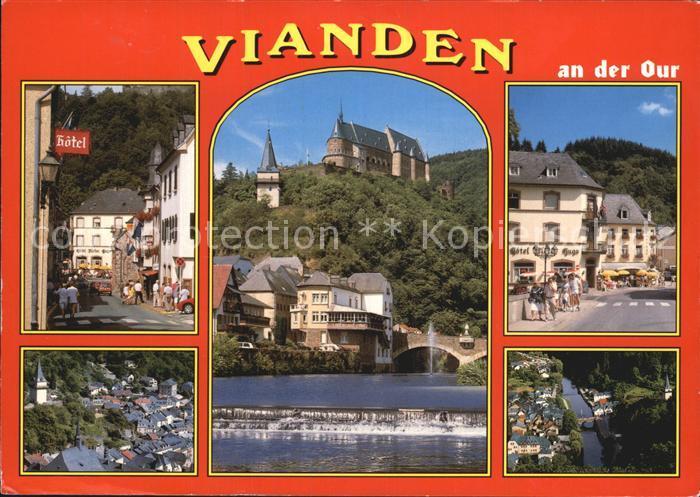 Vianden Strassenpartien Schloss Partie an der Our