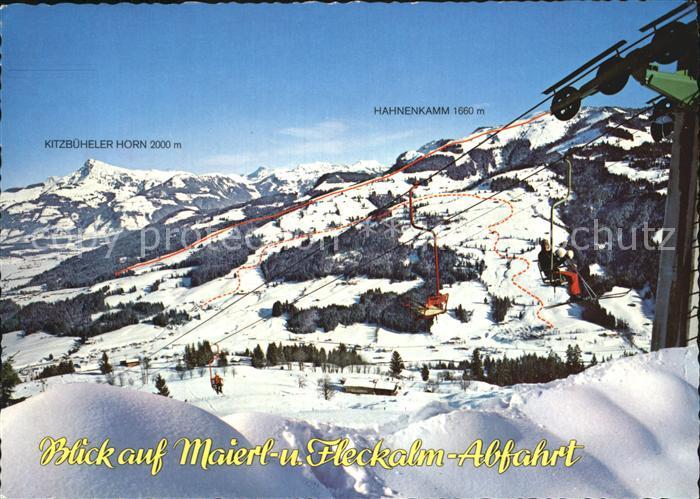 Kirchberg Tirol Abfahrt Maierl Abfahrt Obwiesen Abfahrt Fleckalm Kat. Kirchberg in Tirol