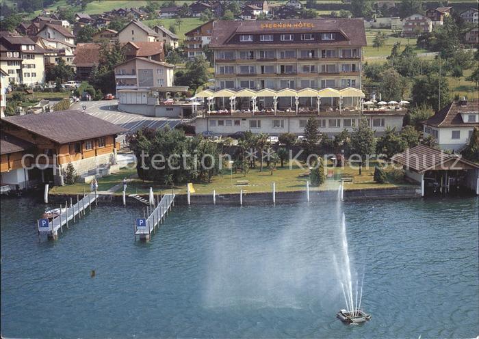 Www Rhein Terren De | Beckenried Vierwaldstaettersee Sternen Hotel Am See Fliegeraufnahme