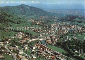 Adliswil Fliegeraufnahme mit Uetilberg und Zuerich Kat. Adliswil