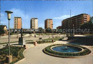 Bor Serbien Platz mit Brunnen Kat. Bor