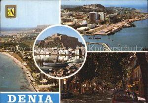 Denia Fliegeraufnahme Allee Schloss Kat. Alicante