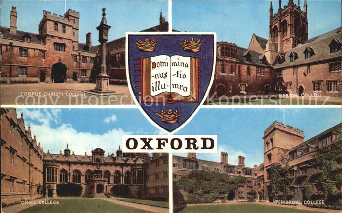 Oxford Oxfordshire Corpus Christi  Oriel  Mertown  Pembroke College  Kat. Oxford