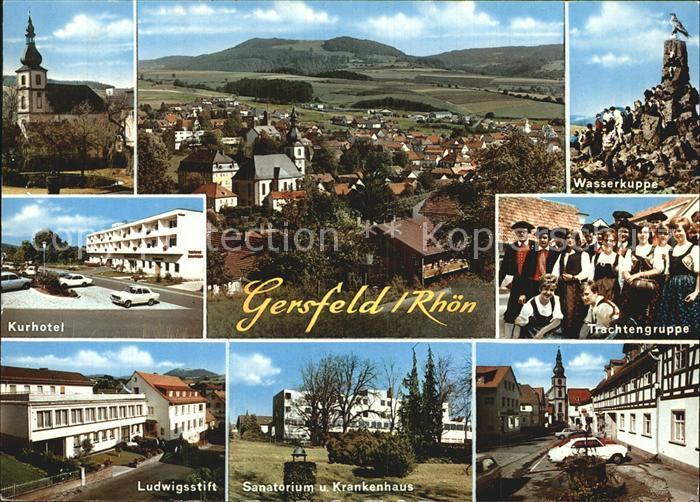 Gersfeld Rhoen Trachtengruppe Wasserkuppe Kurhotel Ludwigsstift Kat. Gersfeld (Rhoen)