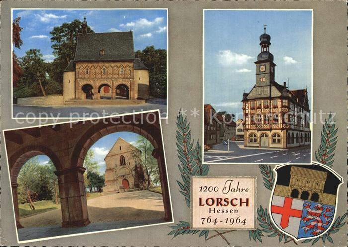 Lorsch Hessen Wappen Rathaus Kat. Lorsch