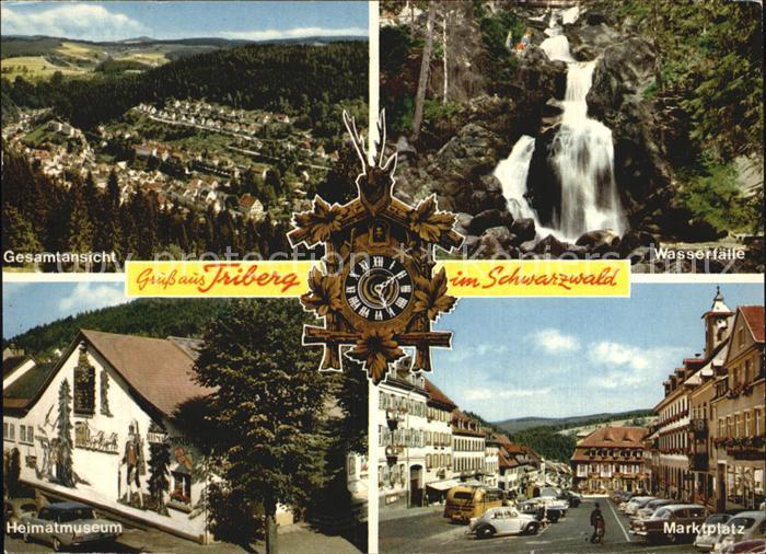 Triberg Schwarzwald Gesamtansicht Hematmuseum Marktplatz Wasserfaelle Kat. Triberg im Schwarzwald
