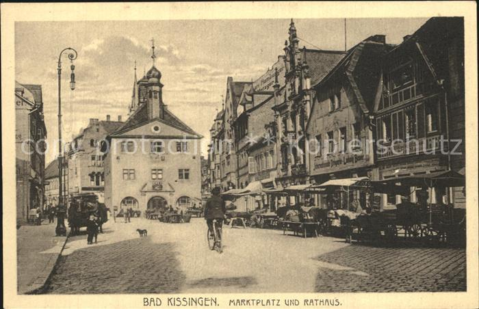 Kissingen Bad Marktplatz Rathaus Kat. Bad Kissingen