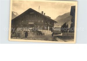 Maloja GR Osteria vecchia und Seganinihaus Kat. Maloja Graubuenden