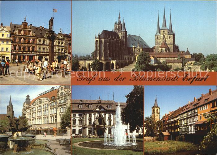 Erfurt Fischmarkt Haus Zum Breiten Herd Dom Severikirche Brunnen Kat