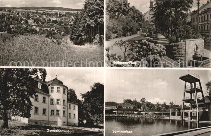 Markneukirchen Gewerbemuseum Schwimmbad Thaelmann Platz Kat. Markneukirchen