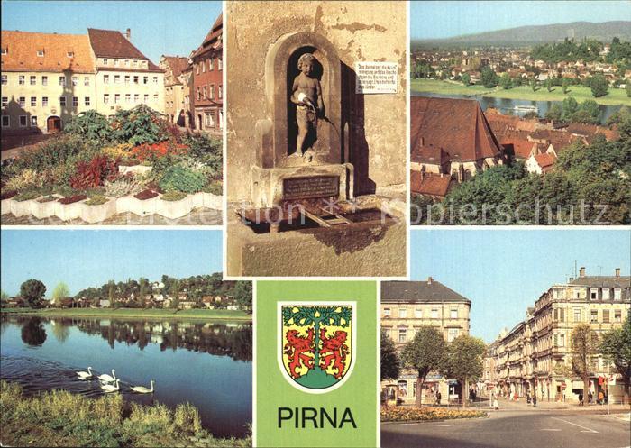Pirna Markt Erlenpeterbrunnen Cospitz Karl Marx Strasse  Kat. Pirna