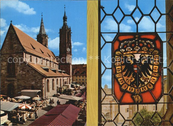 Villingen Schwenningen Blick aus dem Rathausfenster Kat. Villingen Schwenningen
