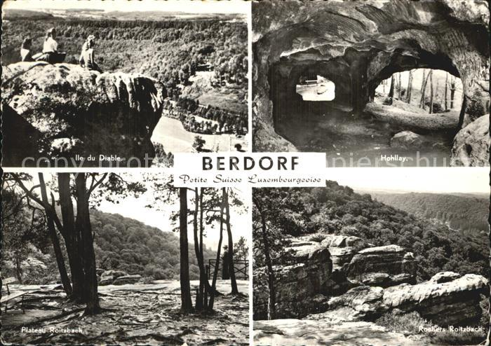 Berdorf Echternach Ile du Diable Hohllay Plateau Roitzbach  Kat. Luxemburg