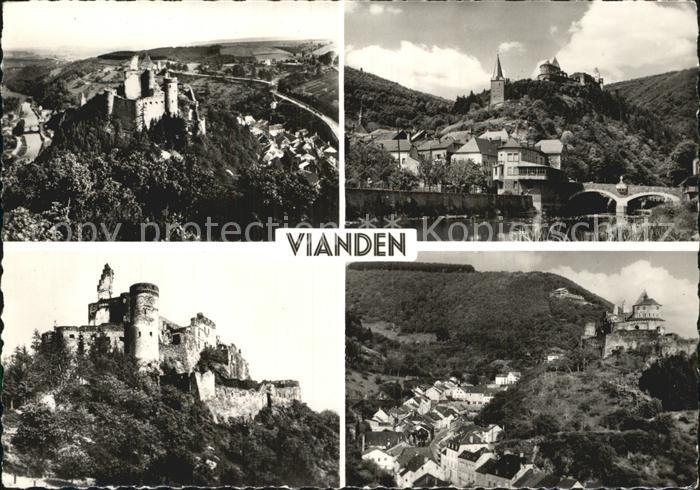 Vianden Schloss Panorama