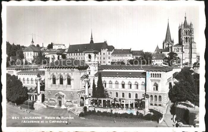 Lausanne Ouchy Palais de Rumine Academie et la Cathedrale Kat. Lausanne