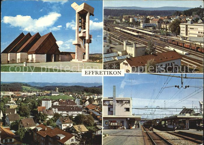 Effretikon Glockenturm Bahnhof Panorama Kat. Effretikon