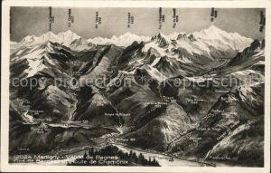 Martigny VS Vallee de Bagnes Grand St Bernard et Route de Chamonix Kat. Martigny