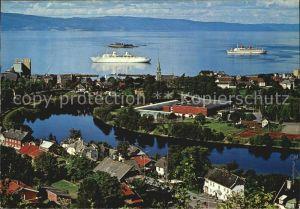 Trondheim Utsikt mot Nidaro og Ila Westtown Munkholmen Island Kat. Trondheim
