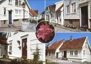 Stavanger Partier fra Gamle Stavanger Altstadt Blume Kat. Stavanger