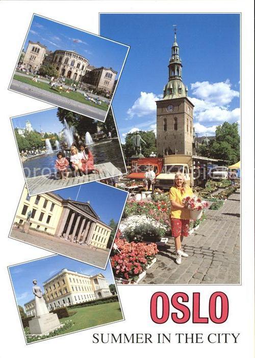 Oslo Norwegen Stortorget Domkirke Studenterlunden Universitetet Slottet Kat. Oslo