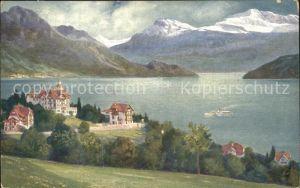 Weggis Vierwaldstaettersee Hotel Pension Alpenblick mit Chalet Dependance und Villa Favorita
