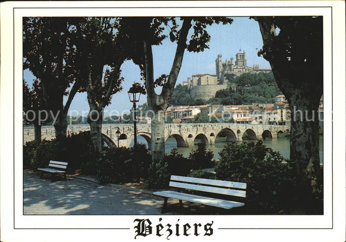 Beziers Cathedrale Saint Nazaire Pont vieux sur l Orb Kat. Beziers
