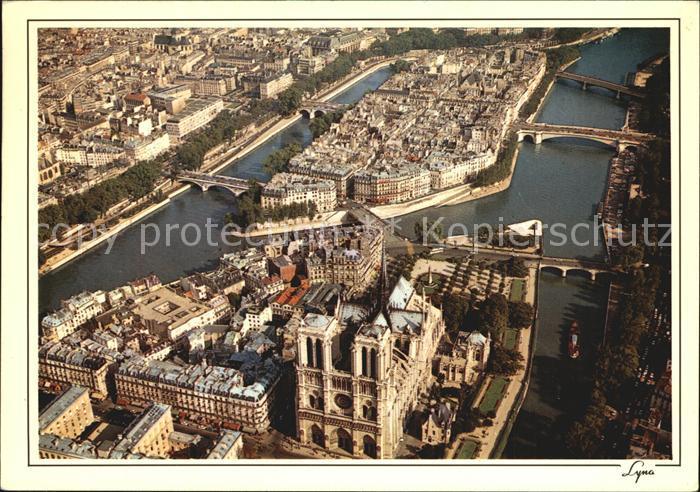 Paris Cathedrale Notre Dame et l Ile Saint Louis vue aerienne Kat. Paris