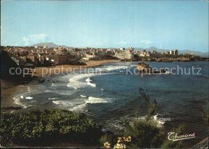 Biarritz Pyrenees Atlantiques Vue prise du Phare la Rhune Montagnes Espagnoles Kat. Biarritz