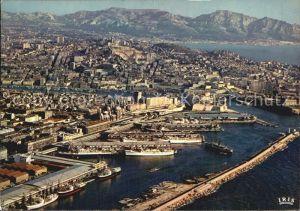 Marseille Bassin de la Joliette Notre Dame de la Garde la corniche vue aerienne Kat. Marseille